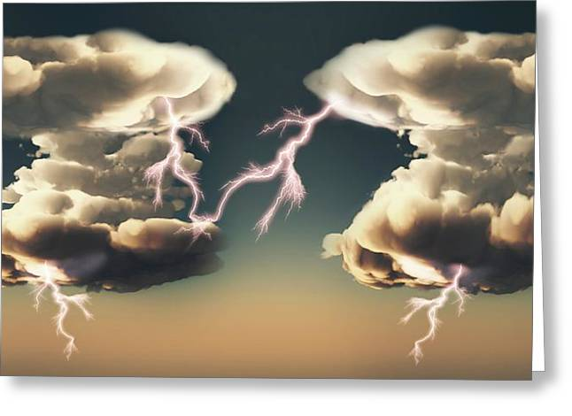 Cumulonimbus Storm Clouds Greeting Card