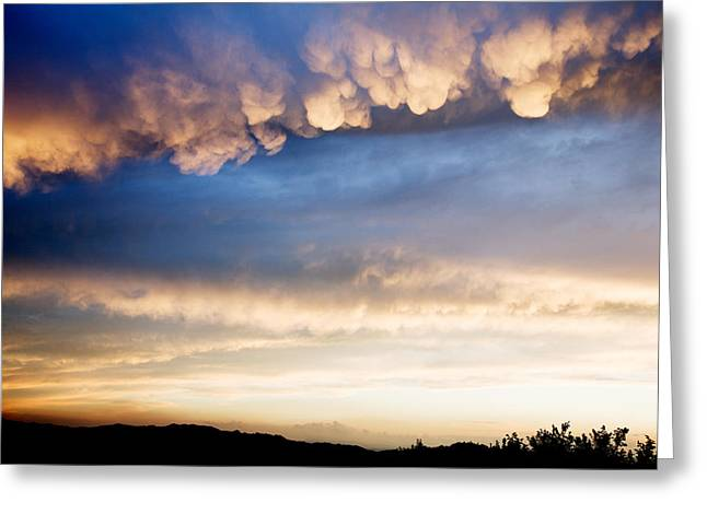 Cumulonimbus With Mammatus Clouds Greeting Card by Ian Middleton