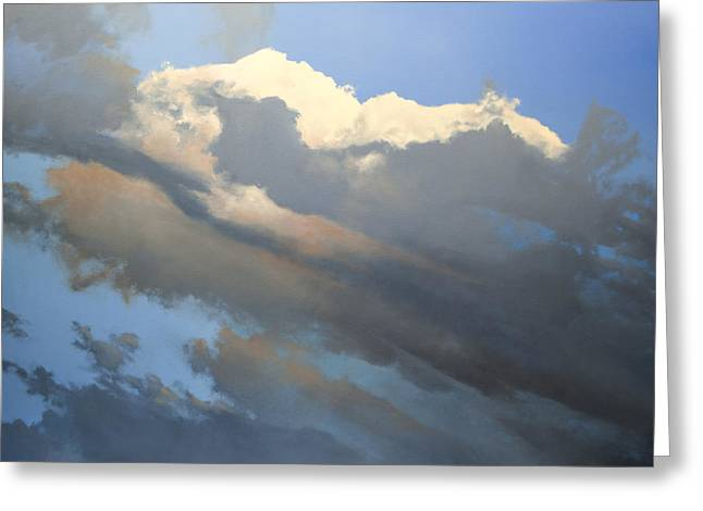 Greeting Card featuring the painting Cumulus 2 by Cap Pannell