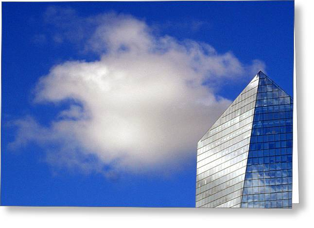 Greeting Card featuring the photograph Cumulus And Cira by Lisa Phillips