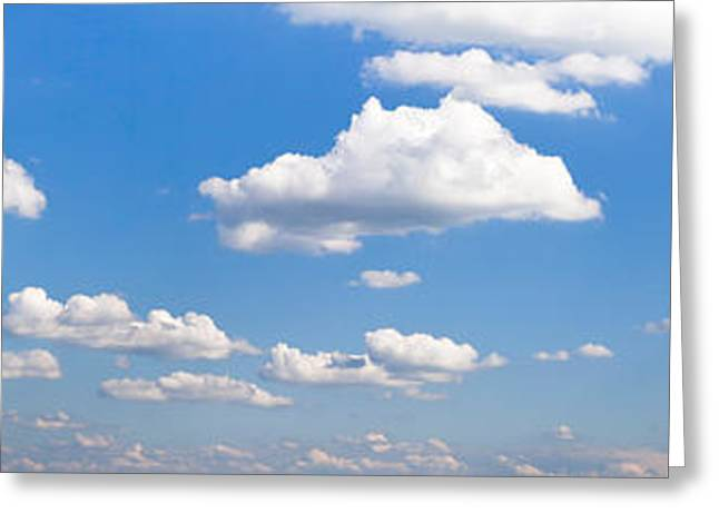 Cumulus Clouds In The Sky, Baden Greeting Card by Panoramic Images