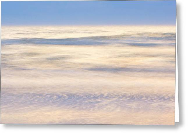 Cumulus Clouds Reflecting In Calm Sea Greeting Card by Yva Momatiuk John Eastcott