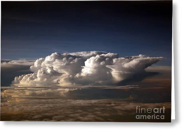 Cumulus Clouds Greeting Card by Tim Holt