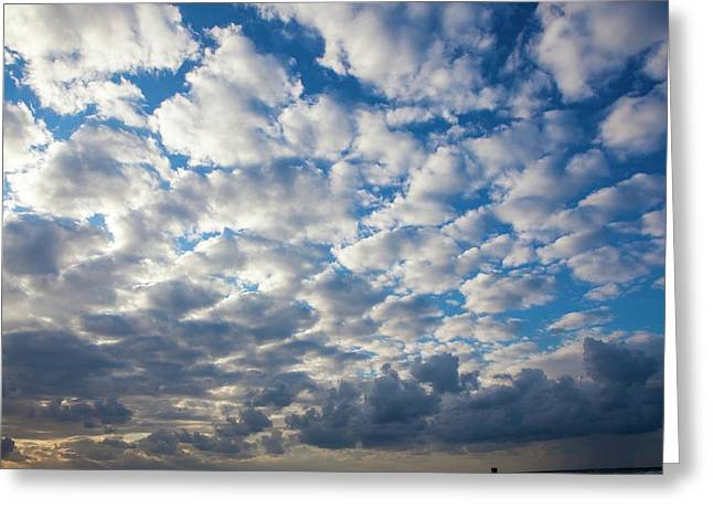 Cumulus Cloudscape Greeting Card by Photostock-israel