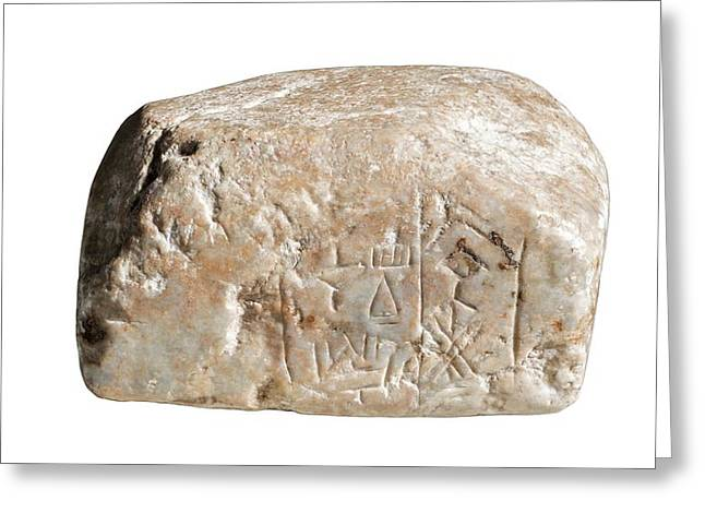Cuneiform Inscription Greeting Card by Photostock-israel