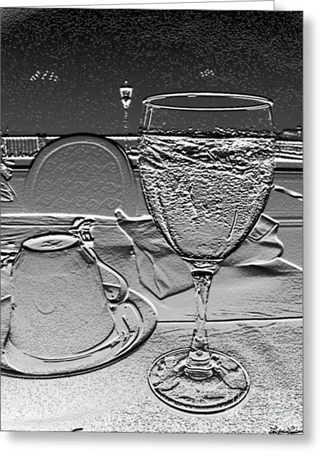 Cup And Glass Greeting Card by Lyric Lucas