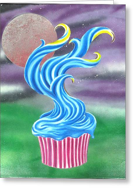 Cup Cake Tree Greeting Card by Nathan Wilson