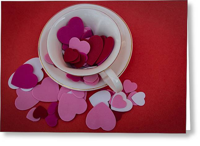 Greeting Card featuring the photograph Cup Full Of Love by Patrice Zinck