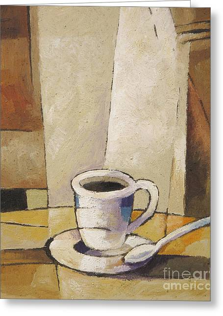 Cup Of Coffee Greeting Card by Lutz Baar