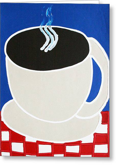 Cup Of Coffee Greeting Card by Matthew Brzostoski