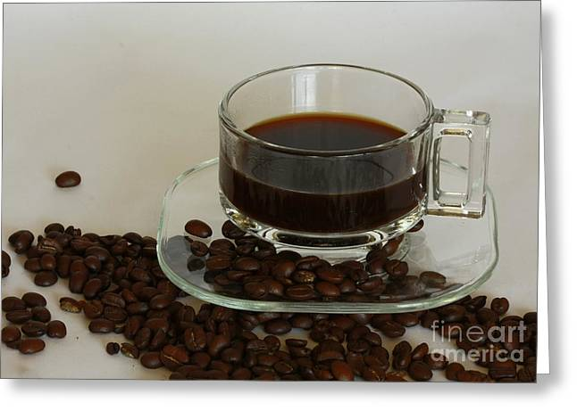 Cup Of Java Greeting Card by Inspired Nature Photography Fine Art Photography