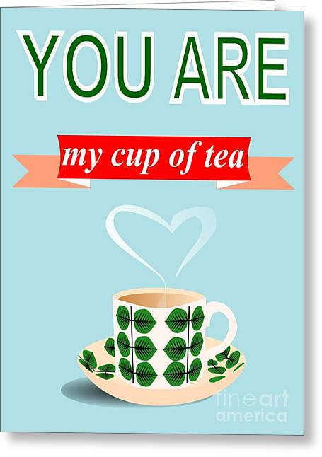 Cup Of Tea Love Greeting Card by Patruschka Hetterschij