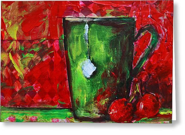 Cup Of Tea No. 1 Greeting Card by Patricia Awapara