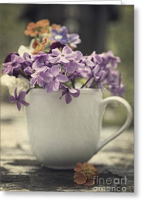 Cup Of Wildflowers Greeting Card by Edward Fielding