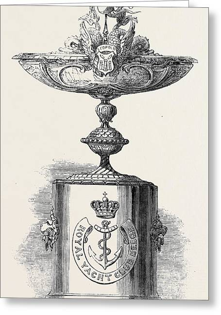 Cup Presented By The King Of The Belgians To The Royal Greeting Card
