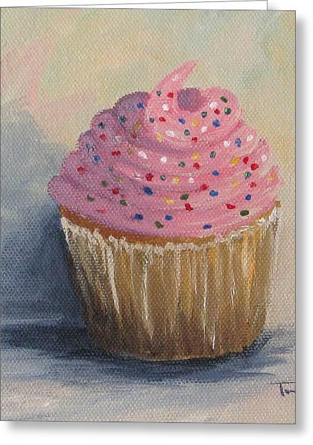 Cupcake 004 Greeting Card by Torrie Smiley