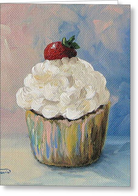 Cupcake 005 Greeting Card by Torrie Smiley