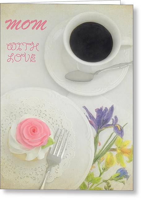 Cupcake And Coffee For Mom Greeting Card by Sandi OReilly