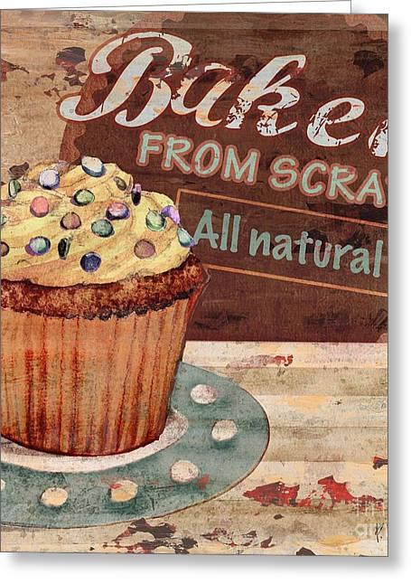 Cupcake Baking Sign II Greeting Card