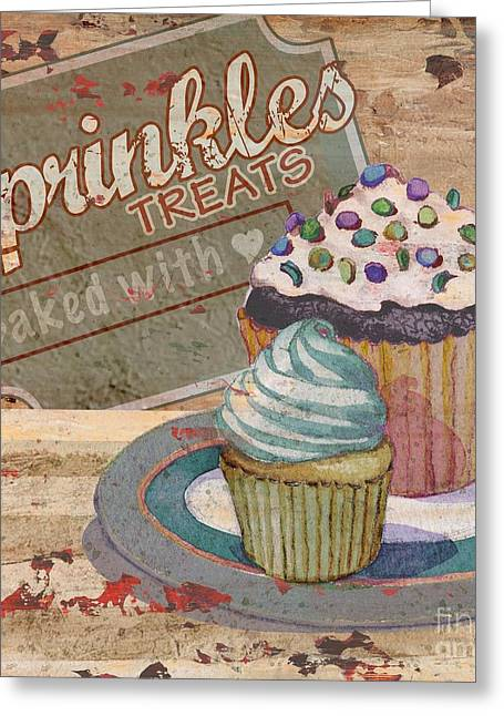 Cupcake Baking Sign IIi Greeting Card by Paul Brent