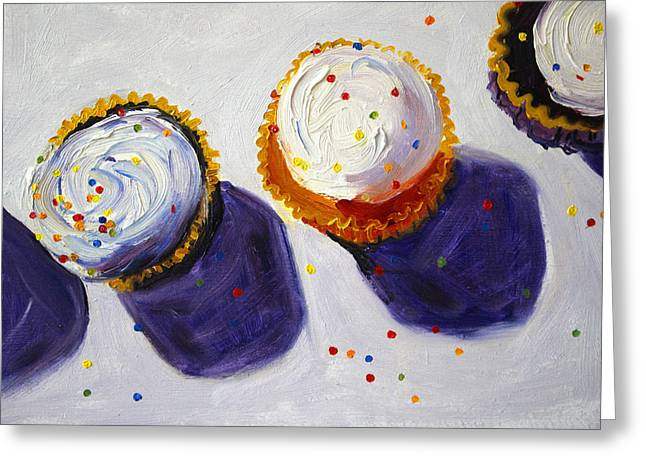 Cupcake Convention Greeting Card by Nancy Merkle