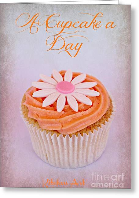 Cupcake Day Greeting Card by Clare Bevan