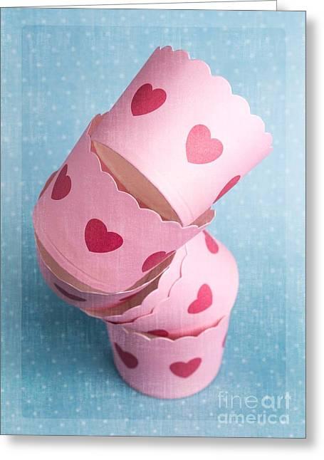 Cupcake Love Greeting Card by Edward Fielding