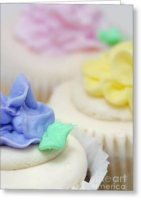 Cupcakes Shallow Depth Of Field Greeting Card by Amy Cicconi