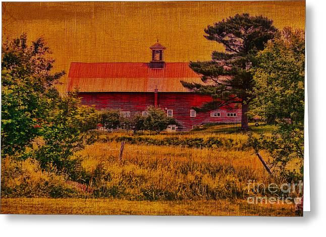 Cupola Vermont Barn Greeting Card by Deborah Benoit