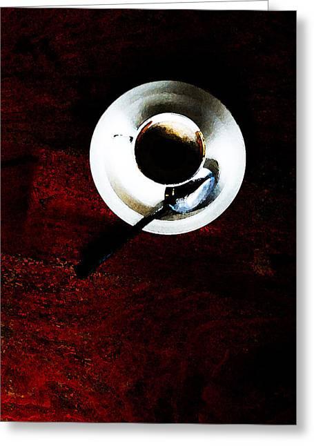 Cupp Greeting Card by Leon Hollins III