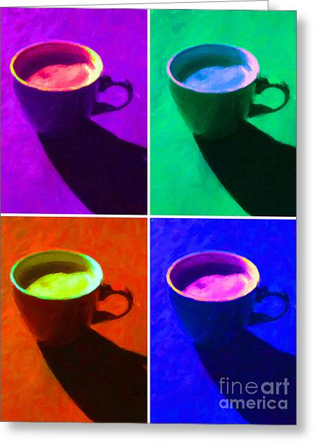 Cuppa Joe - Four Greeting Card by Wingsdomain Art and Photography