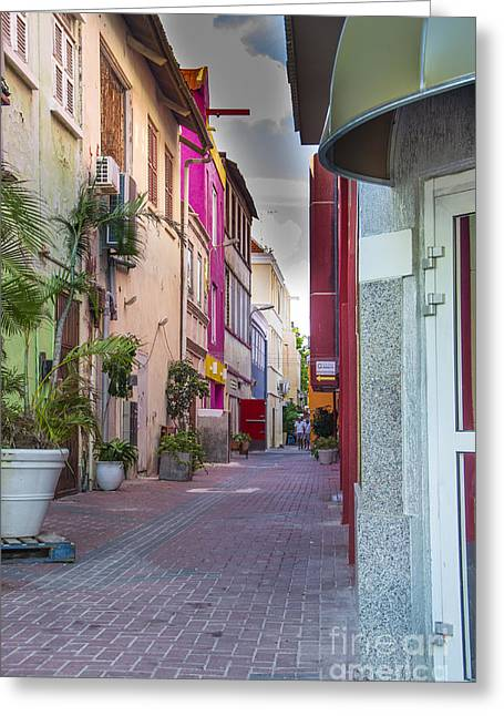 Curacao Alley Greeting Card