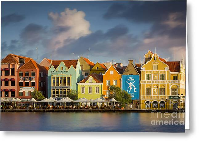 Curacao Evening Greeting Card by Brian Jannsen
