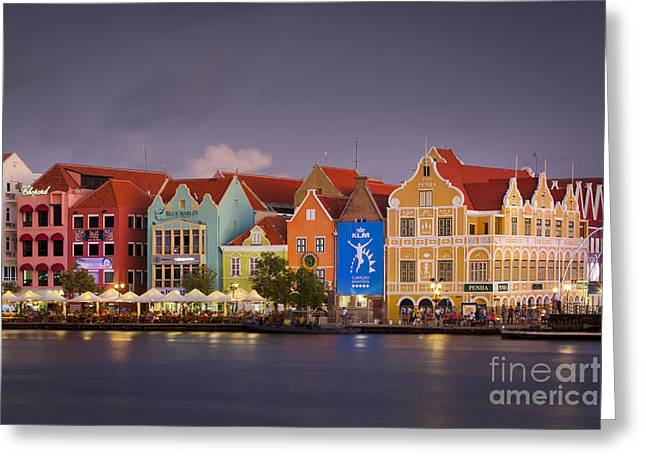 Curacao Water Front Greeting Card by Brian Jannsen