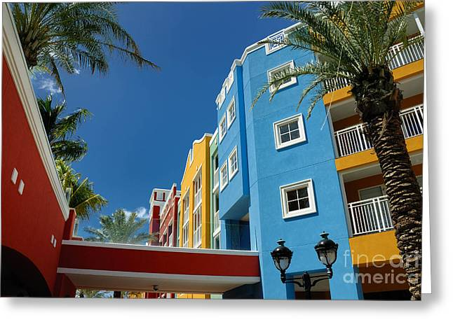 Curacaos Colorful Architecture Greeting Card by Amy Cicconi