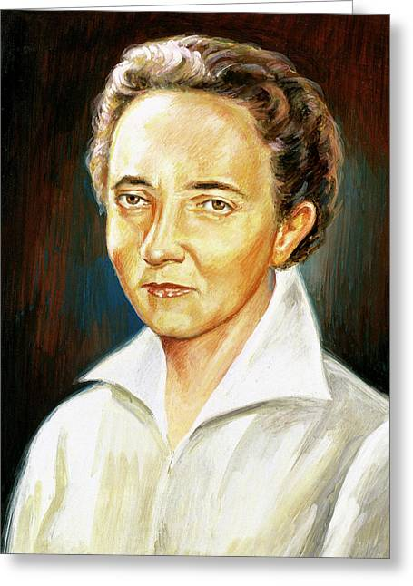 Curie, Irene (paris, 1897-1956 Greeting Card