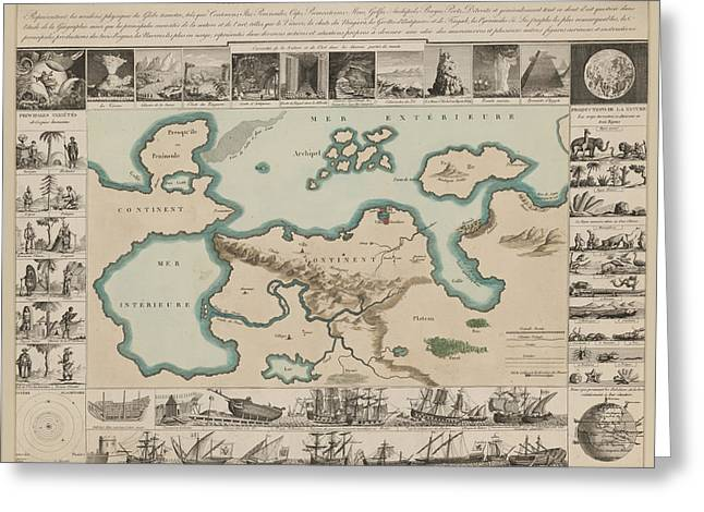 Curiosities Around The World Greeting Card by British Library