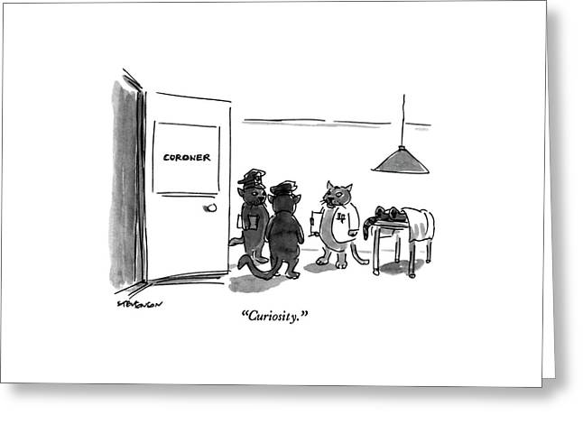 Curiosity Greeting Card by James Stevenson