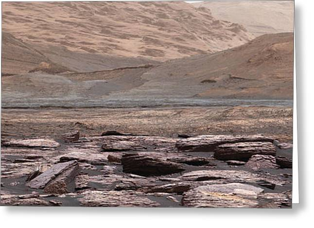 Curiosity Mars Rover View Of Lower Greeting Card