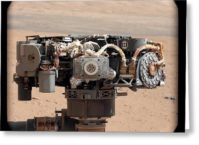 Curiosity Rover's Robotic Arm, Mars Greeting Card