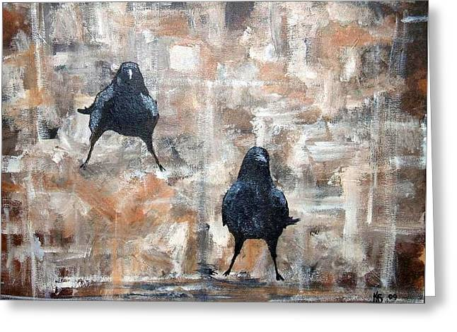 Curious Crows  Greeting Card