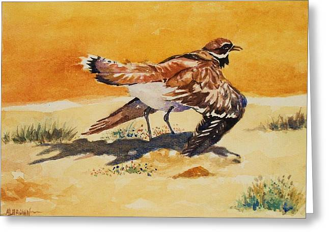 Curious Killdeer Greeting Card
