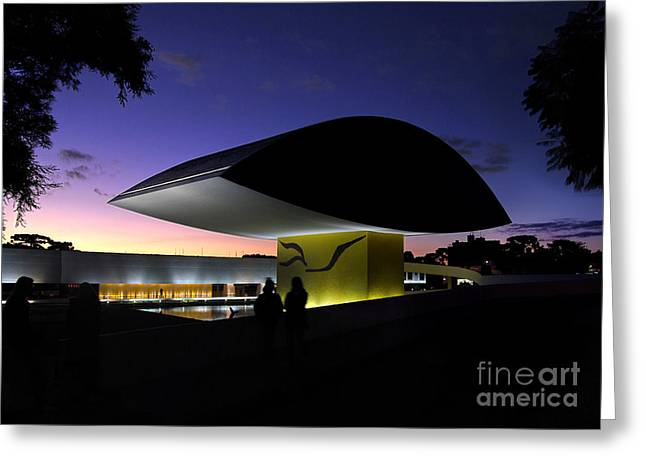 Curitiba - Museu Oscar Niemeyer Greeting Card by Carlos Alkmin