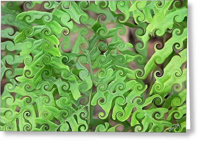 Curly Fronds Greeting Card