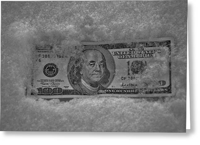 Currency Freeze Greeting Card by Robert Geary