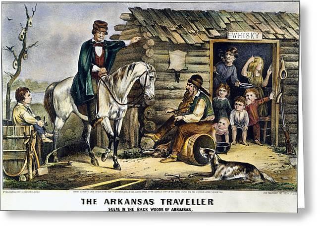 Currier & Ives The Arkansas Traveler Greeting Card by Granger