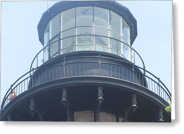 Greeting Card featuring the photograph Currituck Beach Light by Cathy Lindsey