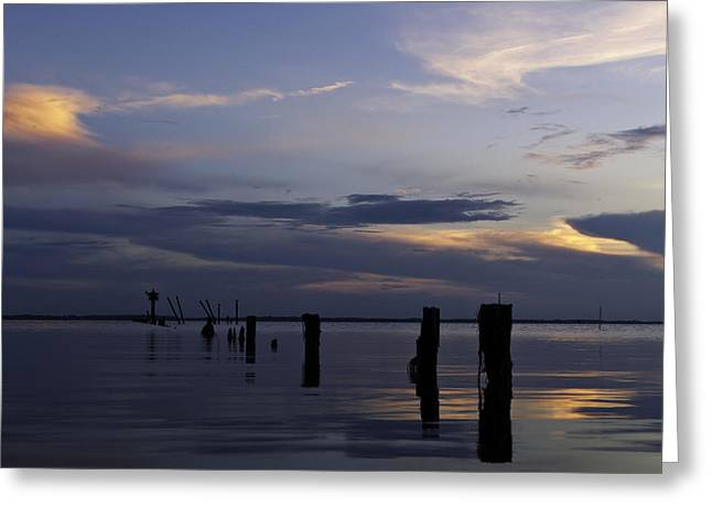 Currituck Sound Sunset Greeting Card