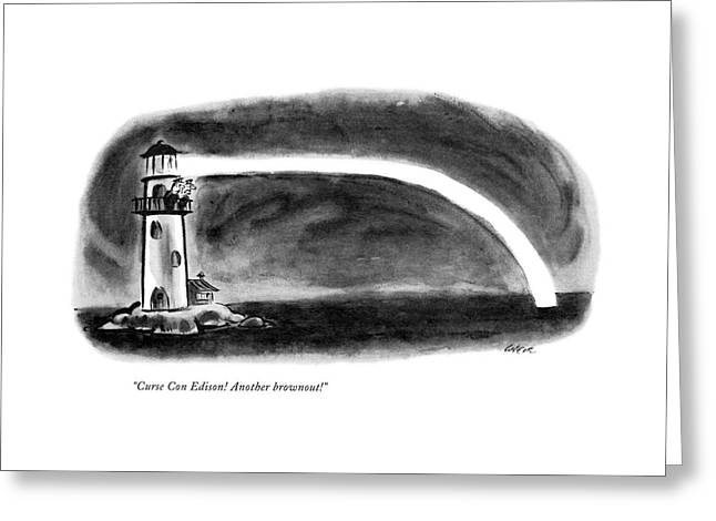 Curse Con Edison! Another Brownout! Greeting Card