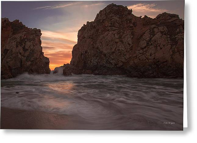Curtain Call At Big Sur Greeting Card by Tim Bryan
